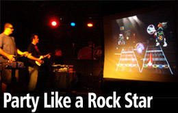 Edge Sight & Sound offers Guitar Hero and Rock Band for any event DJ package